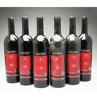 Case of 4x Cofield Wines Durif 750ml and 2x Cofield WInes Malbec 750ml Bottles