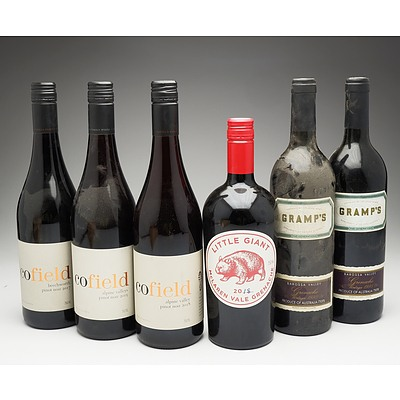 Case of 3x Cofield Pinot Noir, 2x Gramps Grenache and One Little Giant Grenache 750ml Bottles