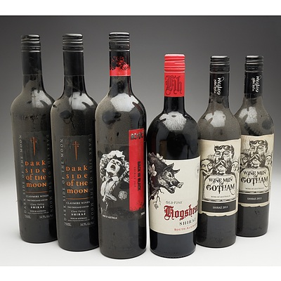 Case of 6x Various Shiraz 750ml Bottles Including Claymore Wines, Wine Men of Gotham and More