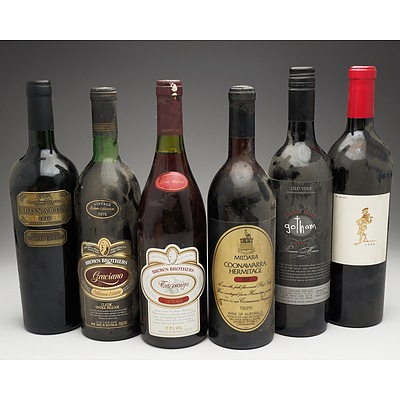Case of 6x Various Mixed Wine 750ml Bottles Including Brown Brothers Tarrango, Mildara Coonawarra Hermitage and More