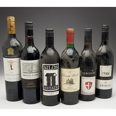 Case of 6x Various Shiraz 750ml Bottles Including The Vale, Brand's Laira, Mildara Wines and More