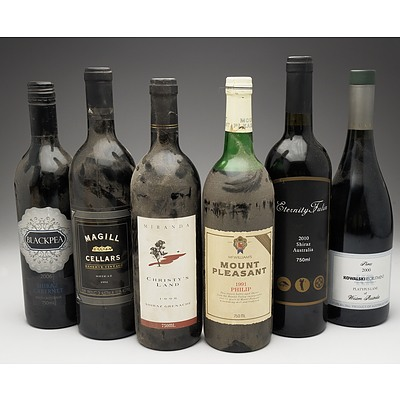 Case of 6x Various Shiraz 750ml Bottles Including McWilliams, Magill Cellars, Blackpea and More