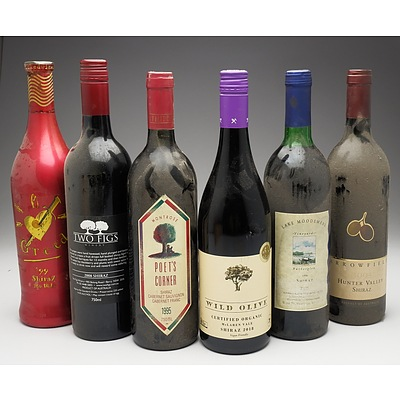 Case of 6x Various Shiraz 750ml Bottles Including Arrowfield, Wild Olive, Montrose and More
