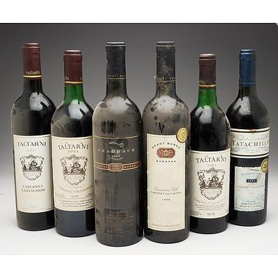 Case of 6x Cabernet Sauvignon 750ml Bottles Including Grant Burge, Taltarni and Tatachilla