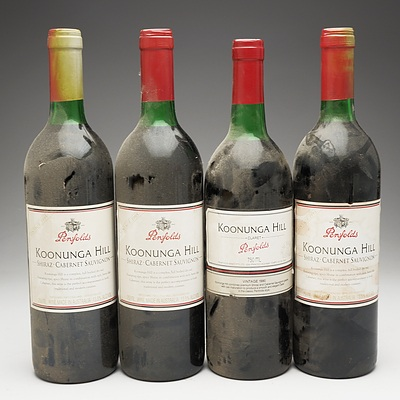 Case of 3x Penfolds Koonunga Hill Vintage 1995 Shiraz Cabernet Sauvignon 750ml and One Bottle of Penfolds Koonunga Hill Vintage 1990 Claret 750ml