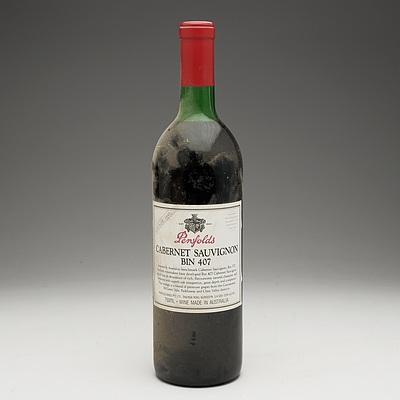 Penfolds Bin 407 Cabernet Sauvignon Vintage 1991 750ml