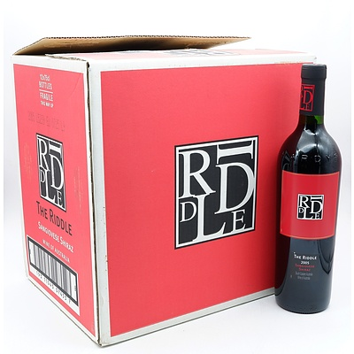 Case of 12x The Riddle 2005 Sangiovese Shiraz 750ml