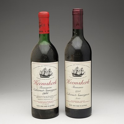 One Bottle of Heemskerk Tasmanian 1985 Cabernet Sauvignon 750ml and One Bottle of Heemskerk Tasmania 1995 Cabernet Sauvignon Merlot 750ml