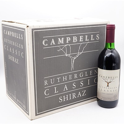 Case of 12x Campbells Rutherglen 1995 Shiraz 750ml