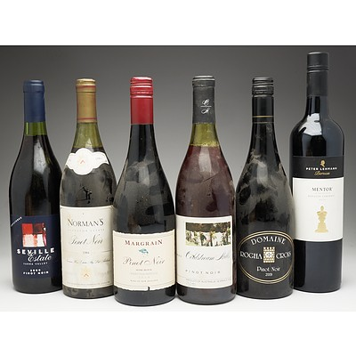 Case of 5x Pinot Noir 750ml Bottles and 1x Cabernet 750ml Bottle Including Norman's, Margrain, Domaine and More