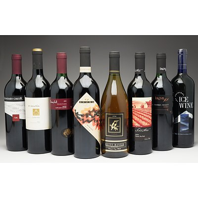 Case of 8x Mixed Wine 750ml Bottles Including Iron Hill Shiraz, Akuna Merlot, St Martin Cabernets and More