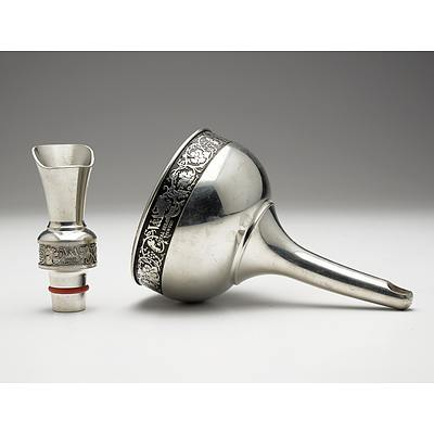 Royal Selangor Pewter Wine Funnel and Wine Pourer