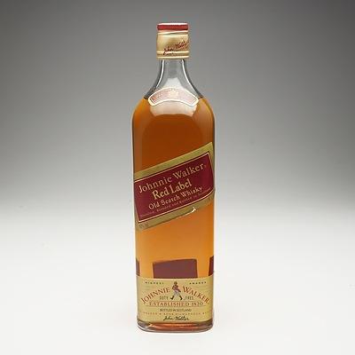 Johnnie Walker Red Label Old Scotch Whiskey 1 Litre Bottle