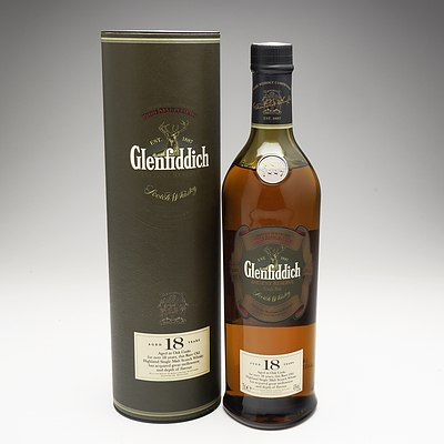 Glenfiddich Single Malt Scotch Whiskey Aged 18 Years 750ml Bottle