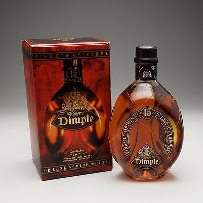 The Original Dimple 15 Year Old Deluxe Scotch Whiskey 700ml Bottle