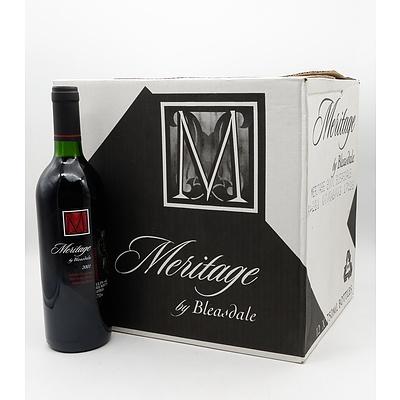 Case of 12x Meritage by Bleasdale 2001 Cabernet Sauvignon, Petit Verdot, Shiraz, Malbee and Merlot 750ml