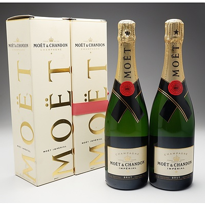 Two Bottles of Moet & Chandon Brut Champagne 750ml