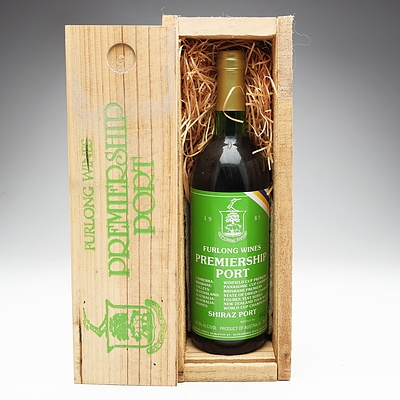 Furlong Wines 1989 Premiership Port Shiraz Port 750ml In Special Wooden Box