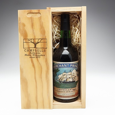 Campbells Merchant Prince Limited Release Rutherglen Muscat 750ml Bottle In Special Wooden Box