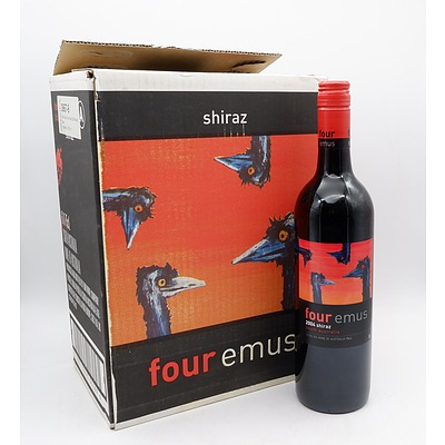 Case of 6x Four Emus 2004 Shiraz 750ml