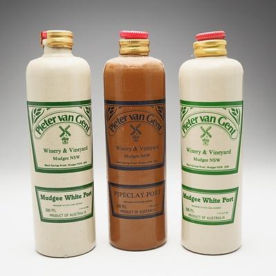 Three Bottles of Pieter Van Gent Port 500ml