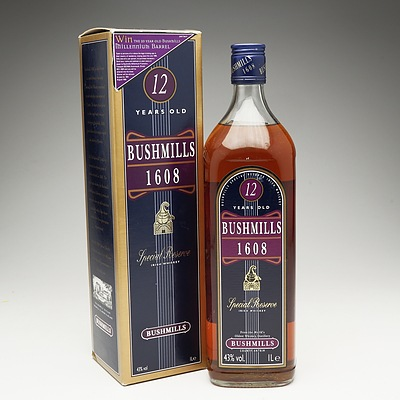 Bushmills 1608 Special Reserve Irish Whiskey 12 Years Old 1 Litre