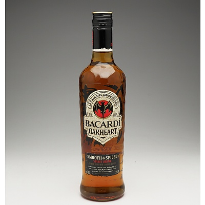 Bacardi Oakheart Smooth & Spiced Rum 700ml