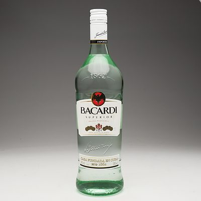Bacardi Superior Original Premium Rum 1 Litre Bottle