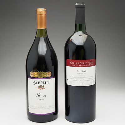 One Bottle of Seppelt 2003 Shiraz 1.5 Litre and One Bottle of Jim Murphy's Vintage 2002 Shiraz 1.5 Litre