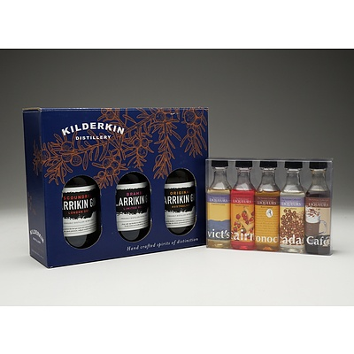 Kilderkin Distillery Gin Three Pack and Norfolk Island The Forrester Spirits Collection Five Pack