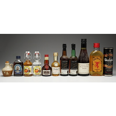 Group of Eleven Various Miniature Spirits and Port Bottles