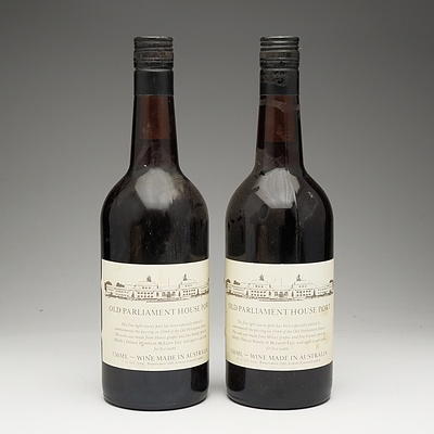 Two Bottles of Old Parliament House Port 750ml