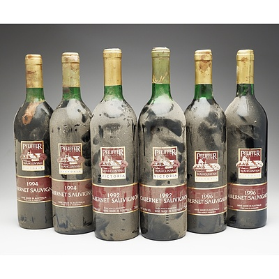 Case of 6x Pfeiffer Wines Cabernet Sauvignon 750ml
