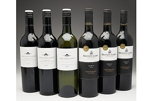 Case of 6x Mixed Wine 750ml Bottles Including Brand's Laira Shiraz, Long Rail Gully Cabernet Sauvignon and Long Rail Gully Sauvignon Blanc