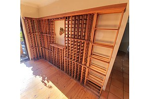 Modular Wooden Wine Racks System Holding 500+ Bottles