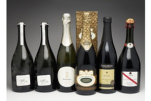 Case of Six 750ml Bottles of Red and White Sparkling Wine