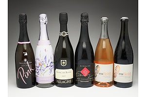 Case of Six 750ml Bottles of Red and White Sparkling Wine Including Cofield, Redbank, Yellowglen and More