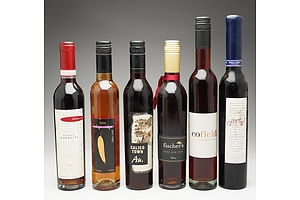 Group of Six 375ml Bottles of Various Port and Dessert Wines