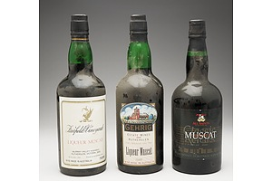 Three Bottles of Muscat 750ml Including All Saints, Fairfield Vineyard and Gehrig Estate Wines