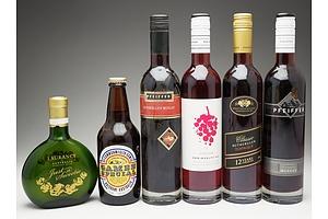 Six Bottles of Various Dessert Wines and Beer