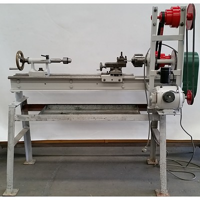 Custom Built Metal Lathe with Stand