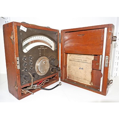 Antique Volt and Amp Meter