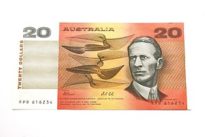 Australian Fraser/ Cole $20 Note, RPB616234