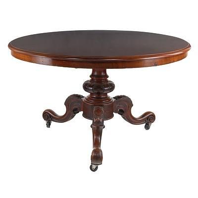 Victorian Mahogany Breakfast Table Circa 1880