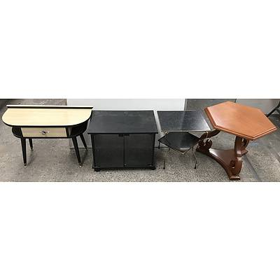 Retro And Other Side Tables -lot Of Four