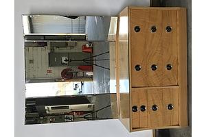 Mirror Veneer Back Sideboard