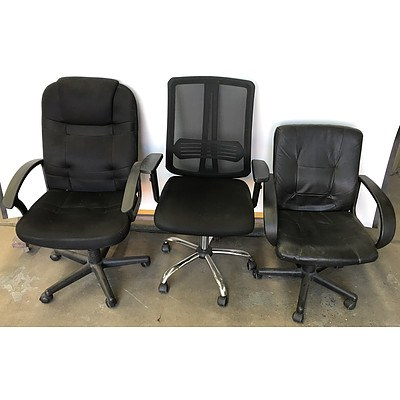 Office Chairs -Lot Of Three