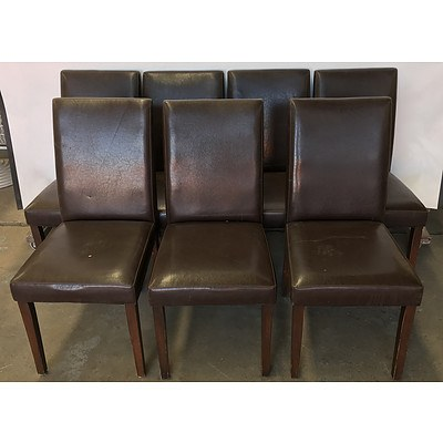 Faux Leather Dining Chairs -Set Of Seven