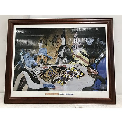 Framed Print 'Rez Dogs Playing Poker'
