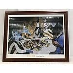 Framed Print 'Rez Dogs Playing Poker'